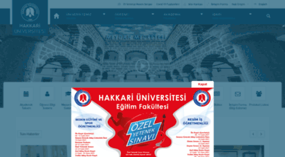 hakkari.edu.tr - hakkari üniversitesi