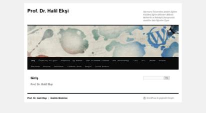 halileksi.net - prof. dr. halil ekşi  marmara üniversitesi atatürk eğitim fakültesi eğitim bilimleri bölümü rehberlik ve psikolojik danışmanlık anabilim dalı öğretim üyesi