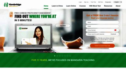 hanbridgemandarin.com - learn mandarin chinese with hanridge mandarin language school