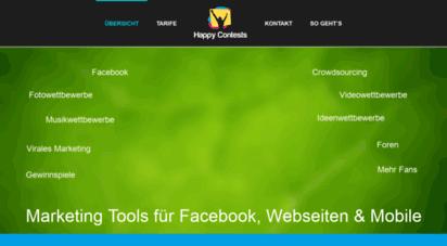 happy-contests.de - online baukasten für gewinnspiele, adventskalender, tippspiele und quiz!