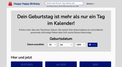 happyhappybirthday.net - happy happy birtday - interessante fakten zu deinem geburtstag