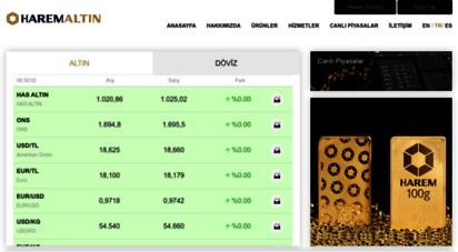 haremaltin.com - canlı altın fiyatları & canlı döviz kurları  harem altın