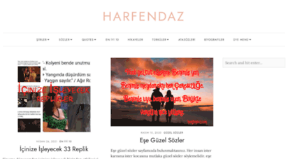 harfendaz.com - şiir şair ve güzel sözler portalı -