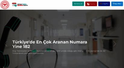 hastanerandevu.gov.tr - mhrs portal  anasayfa