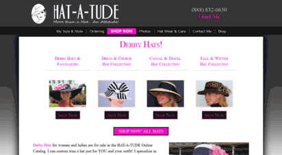 8fc0c71d1ec Welcome to Hat-a-tude.com - Derby Hats and Dress Hats