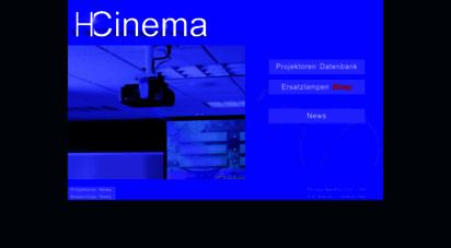 hcinema.de - hcinema die projektoren datenbank