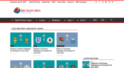 hdmatches.com - watch hd football replay and highlights - hd matches
