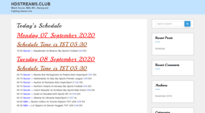 hdstreams.club - hdstreams.club - watch soccer, nba, nfl, racing and fighting games live