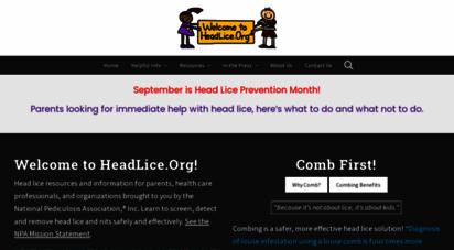 headlice.org - welcome to headlice.org