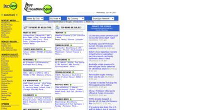 headlinespot.com - headlinespot.com: us newspapers online news headlines, world news, current events.
