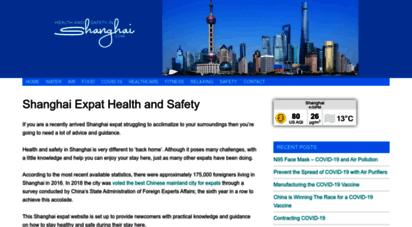 healthandsafetyinshanghai.com - shanghai expat health and safety information