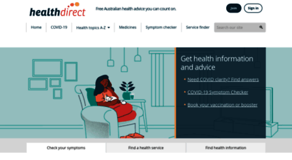 healthdirect.gov.au - trusted health advice  healthdirect