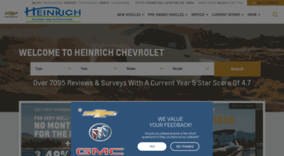 Welcome To Heinrichchevy Com Heinrich Chevrolet Buffalo