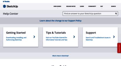 Welcome to Help sketchup com - Homepage | SketchUp Help