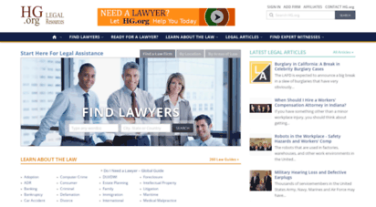 hg.org - search for local lawyers and law firms - hg.org legal directory