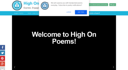 highonpoems.com - high on poems - a premium platform for poets and poetry.