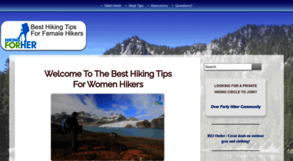 hiking-for-her.com - best hiking tips for women hikers