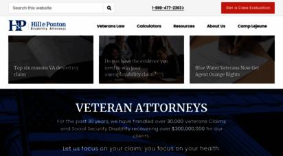 hillandponton.com - social security disability lawyers  veterans disability lawyers - orlando, daytona beach, deland, melbourne and tampa