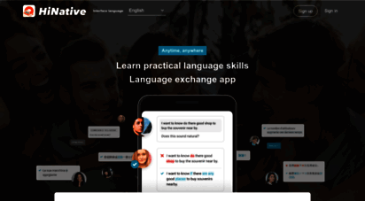 hinative.com - hinative  a question and answer community for language learners.