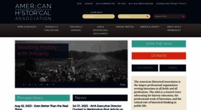 historians.org - home  aha