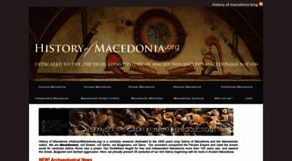 historyofmacedonia.org - history of macedonia and the macedonian nation