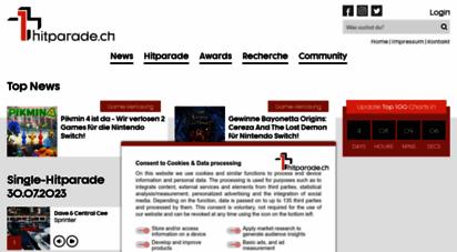 hitparade.ch - die offizielle schweizer hitparade und music community - hitparade.ch