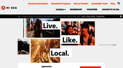 hiusa.org - hi hostels - youth hostels usa & backpacking cheap budget travel  hi usa