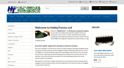 hobbytronics.co.uk - hobbytronics  hobby electronics components supplier for your hobby and education needs