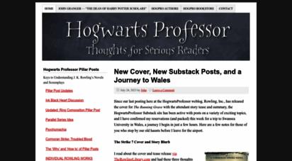 hogwartsprofessor.com - hogwarts professor - harry potter talk