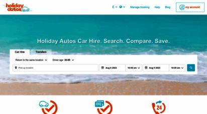 holidayautos.com - compare car hire. save up to 40. holiday autos