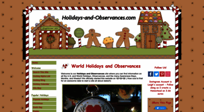 holidays-and-observances.com - world holidays and observances