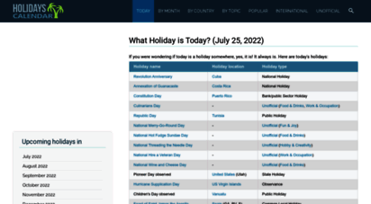 holidayscalendar.com - today is a holiday! check it here - holiday calendar