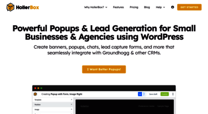 hollerwp.com - lead generation and sale notification popups for wordpress stores - holler box