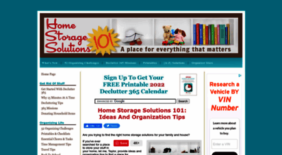 home-storage-solutions-101.com - home storage solutions 101: ideas and organization tips
