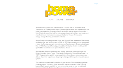 homepower.com - home power magazine  downloadable archive  home