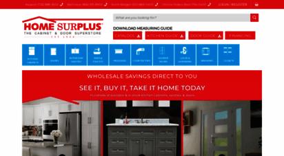 homesurplus.com - home surplus - factory direct kitchen cabinet, vanity and door outlet - home surplus