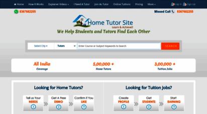 Welcome to Hometutorsite com - Home Tutors, Online Tutors
