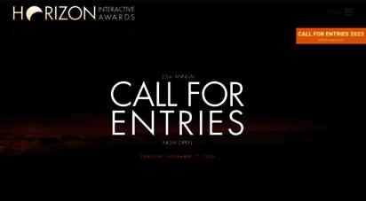 horizoninteractiveawards.com - horizon interactive awards : website awards  web design awards, mobile apps, video