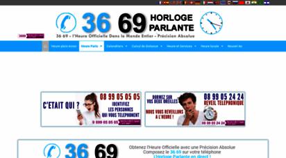 horlogeparlante.com - 3669 horloge parlante © heure paris france fr