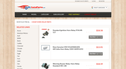 Welcome to Horn-relay dvautoparts com - Cheap Auto Parts by
