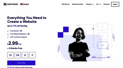 hostinger.com - hosting platform - go online with hostinger for only $0.99 now