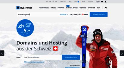 hostpoint.ch - hostpoint - webhosting, hosting und domainnamen. erstklassiger support