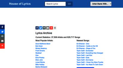 houseoflyrics.com - house of lyrics