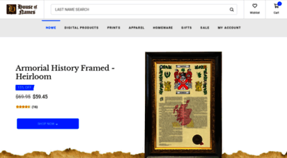 houseofnames.com - houseofnames: lastname histories, coats of arms & family crests