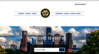 houstontx.gov - welcome to the city of houston egovernment center