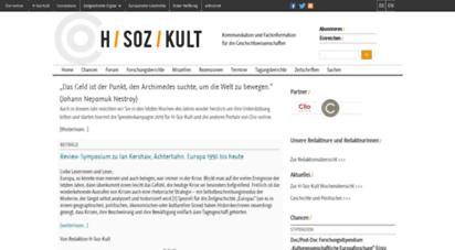 hsozkult.de - h-soz-u-kult / kommunikation und fachinformation für die geschichtswissenschaften