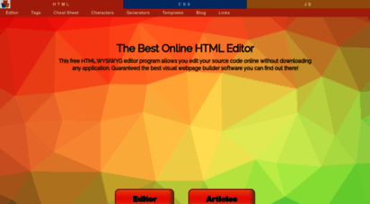 html-online.com - online html editing tools and articles