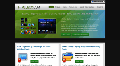 html5box.com - jquery video gallery plugin, jquery image and video gallery plugin, jquery video lightbox plugin, jquery image and video lightbox plugin, html5 photo gallery, html5 video gallery, html5 lightbox, html5 banner and html5 3d slideshow