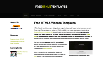 Access html5-templates. Co. Uk. Free website templates – html5 legacy.