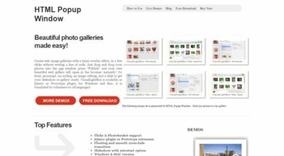 htmlpopupwindow.com - html popup window - html popup window